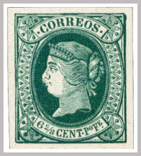 Spanish Philippines Queen Isabella II 1854 - 1864 Forgeries
